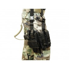 Thigh holster MP5K-M11-MP7-Vz61 adjustable Black