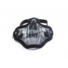 Mesh mask metal Black Skull