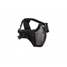 Mesh mask, cheek pad, metal lower half Black