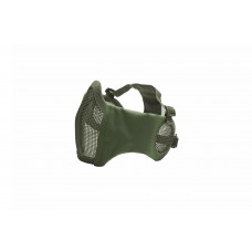 Mesh Mask cheek pad with ear protection OD Green
