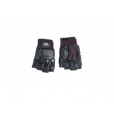 Gloves 1/2 finger Leather L