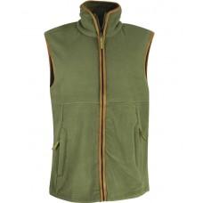 Country Fleece Gilet Green XL