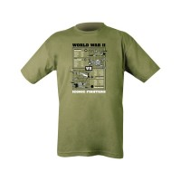 WWII Fighters printed T-shirt XL
