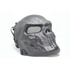 Skull mesh mask - Black